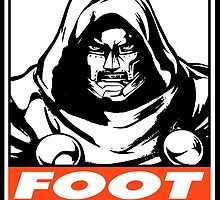 Dr. Doom Foot Dive Obey Design by SquallAndSeifer