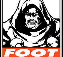 Dr. Doom Foot Dive Obey Design by SquallAndSeifer