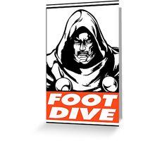Dr. Doom Foot Dive Obey Design Greeting Card