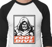 Dr. Doom Foot Dive Obey Design Men's Baseball ¾ T-Shirt