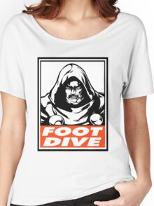Dr. Doom Foot Dive Obey Design Women's Relaxed Fit T-Shirt