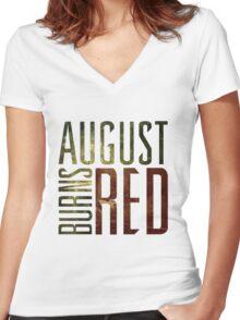 August Burn Red T-shirt - Music band shirt  Women's Fitted V-Neck T-Shirt