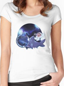 Astronaut Dude and his Shark Buddy Women's Fitted Scoop T-Shirt