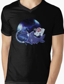 Astronaut Dude and his Shark Buddy Mens V-Neck T-Shirt