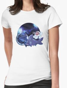 Astronaut Dude and his Shark Buddy Womens Fitted T-Shirt