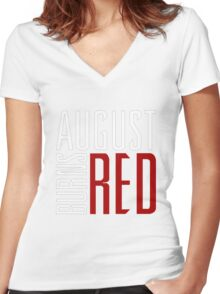 August Burn Red T-shirt - Music band shirt  2 Women's Fitted V-Neck T-Shirt