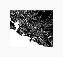 Honolulu Map - Black Unisex T-Shirt