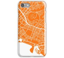 Honolulu Map - Orange iPhone Case/Skin