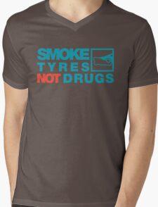 SMOKE TYRES NOT DRUGS (2) Mens V-Neck T-Shirt
