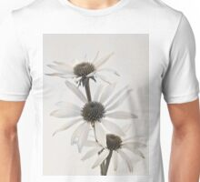 Three White Coneflowers Unisex T-Shirt