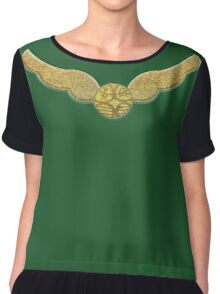Slytherin Snitch Chiffon Top