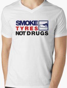 SMOKE TYRES NOT DRUGS (5) Mens V-Neck T-Shirt