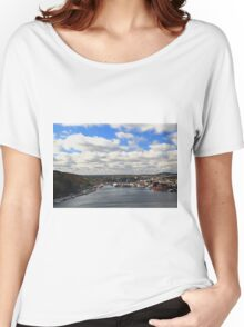 St. John's Newfoundland town and harbor   NL Women's Relaxed Fit T-Shirt