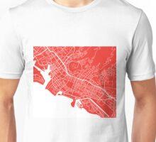 Honolulu Map - Red Unisex T-Shirt