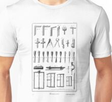 18th Century Diderot Plate - Menuserie - Carpentry - Chisels & Saws Unisex T-Shirt