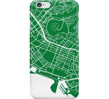 Honolulu Map - Green iPhone Case/Skin