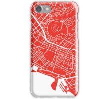 Honolulu Map - Red iPhone Case/Skin