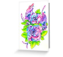 Cotton Candy Bouquet Greeting Card