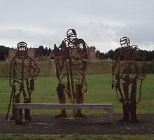 Chatelherault Park - Metal Statues by biddumy