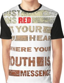 August Burn Red T-shirt - put your heart T-shirt  Graphic T-Shirt
