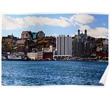 St. John's Newfoundland skyline Poster