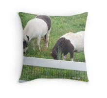 Ponies On A Farm Throw Pillow