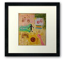 Basquiat Painting Framed Print