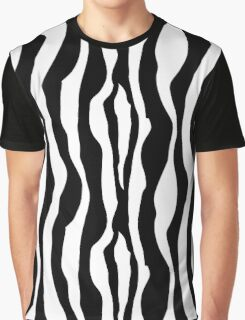 Black And White Zebra Stripes Pattern Graphic T-Shirt