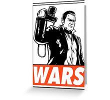Frank West Wars Obey Design Greeting Card