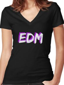 EDM - Electronic Dance Music Women's Fitted V-Neck T-Shirt