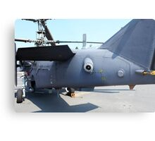 Attack helicopter rear view Metal Print
