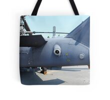 Attack helicopter rear view Tote Bag