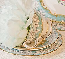 Teal Peony For Real  by Sandra Foster
