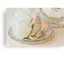 Teal Peony For Real  Canvas Print