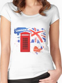 London Telephone Women's Fitted Scoop T-Shirt