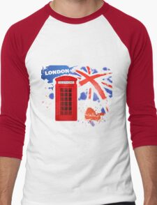 London Telephone Men's Baseball ¾ T-Shirt