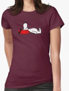 sleeping eat snoopy Womens Fitted T-Shirt