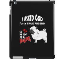 A cute Pug Dog Cartoon with Quote iPad Case/Skin