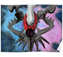Pokemon Darkrai Watercolor Painting Poster