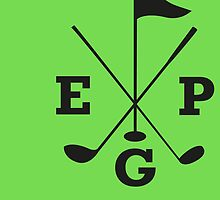 Golf - East Peak Apparel - Golf Flag and Clubs Print by springwoodbooks