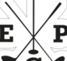 Golf - East Peak Apparel - Golf Flag and Clubs Print Sticker