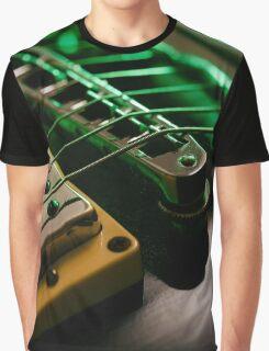 Electric guitar strings and bridge macro Graphic T-Shirt