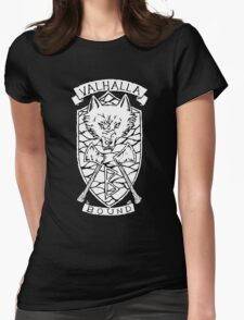 Valhalla Bound - On Black  Womens Fitted T-Shirt