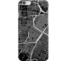 Houston Map - Black iPhone Case/Skin