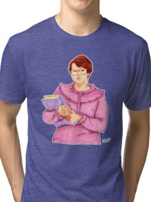 Barb from Stranger Things Portrait Tri-blend T-Shirt