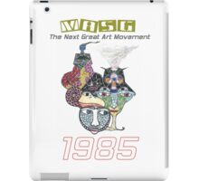 """""""Faces"""" 1985 Upside-Down Masg Art, Topsy Turvy, Ambigram Art commemorative poster by leading Upside-Down Artist, L. R. Emerson II. iPad Case/Skin"""