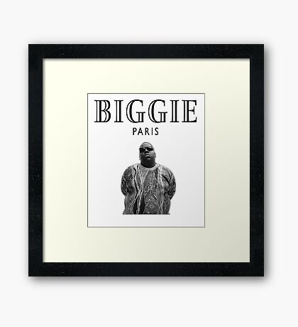 Biggie Smalls Paris - Notorious B.I.G Framed Print
