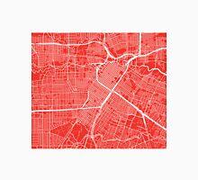 Houston Map - Red Unisex T-Shirt