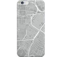 Houston Map - Light Grey iPhone Case/Skin