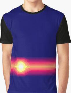 JotJ Sunset Stripes Graphic T-Shirt